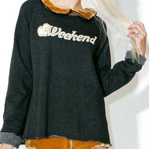 BNWT Wildfox Weekend Morning Sweatshirt S